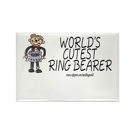 World's Cutest Ringbearer Rectangle Magnet