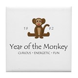 """Year of the Monkey"" [1992] Tile Coaster"