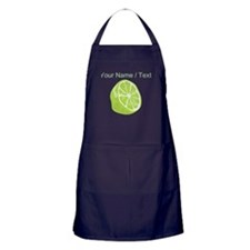 Custom Sliced Lime Apron (dark)