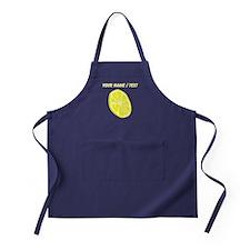 Custom Lemon Slice Apron (dark)