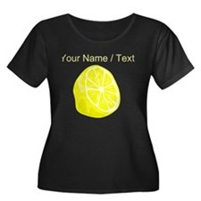 Custom Sliced Lemon Plus Size T-Shirt