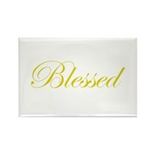 Gold Blessed Rectangle Magnet
