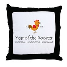"""Year of the Rooster"" [1993] Throw Pillow"