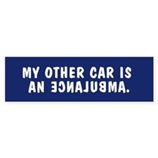 My other car is an ECNALUBMA bumpersticker