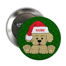 "Christmas Puppy 2.25"" Button (10 pack)"