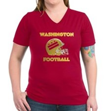 Women's V-Neck Dark Red T-Shirt