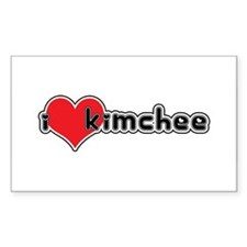"""I Love Kimchee"" Rectangle Decal"