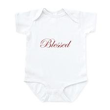Red Blessed Infant Bodysuit