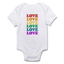 Love Love Love (Rainbow) Infant Bodysuit