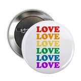 "Love Love Love (Rainbow) 2.25"" Button (100 pack)"