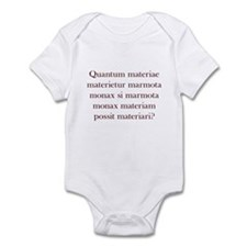 Latin Woodchuck Infant Bodysuit