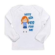 Vote Yes Girl Long Sleeve Infant T-Shirt