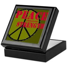 """Peace Through Strength"" Keepsake Box"