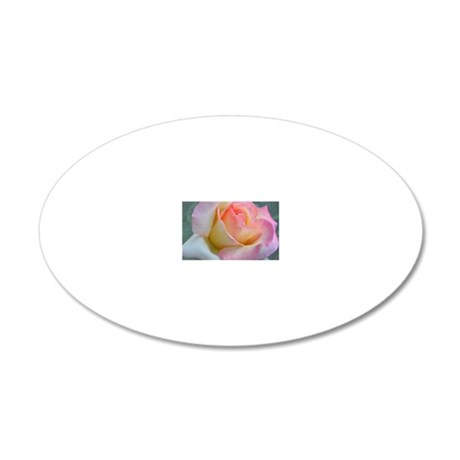 SOFTLY ROSE 20x12 Oval Wall Decal