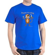 Pirate Monkey Black T-Shirt