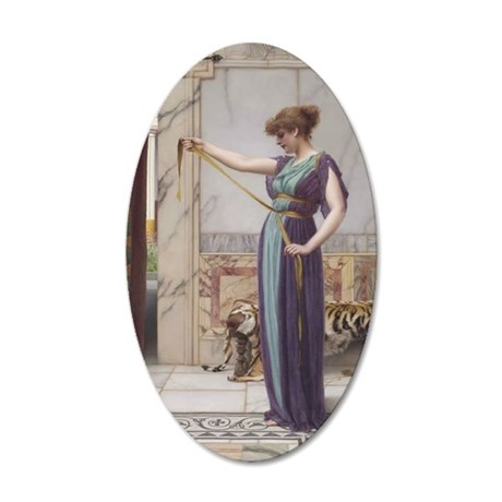 A Pompeiian Lady by John Wil 35x21 Oval Wall Decal