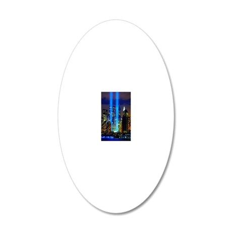 911 Memorial  20x12 Oval Wall Decal
