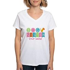 Colorful Whimsy Bird Big Sister Shirt