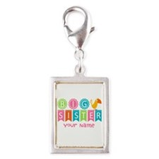 Colorful Whimsy Bird Big Sister Silver Portrait Ch
