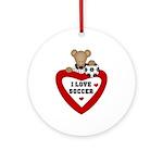 Soccer Bear Ornament (Round)