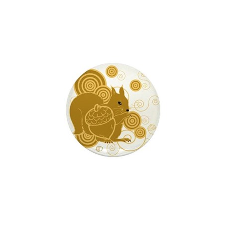 Squirrely Squirrel Mini Button