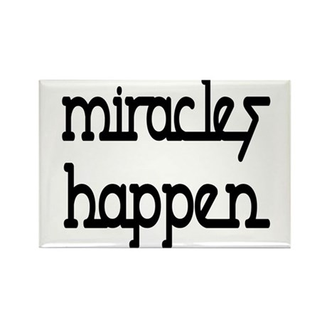Miracles Happen Rectangle Magnet (10 pack)