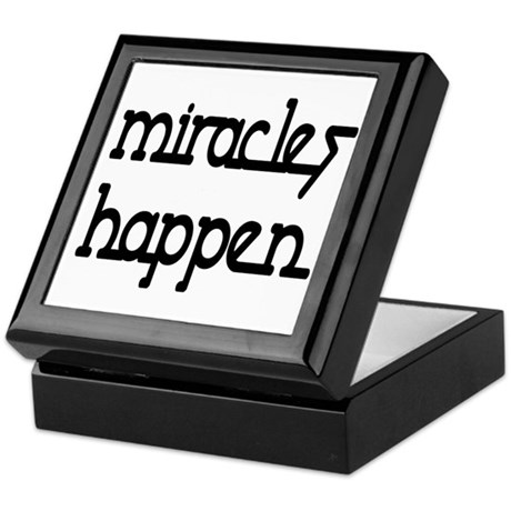 Miracles Happen Keepsake Box
