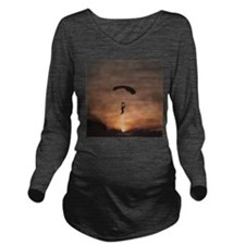 Sunset Skydiver Long Sleeve Maternity T-Shirt