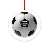 Soccer ornament Round Ornaments