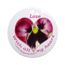 Love, with all my Heart Ornament (Round)