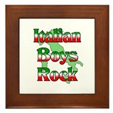 Italian Boys Rock Framed Tile