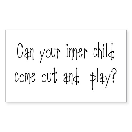 Inner Child Rectangle Sticker