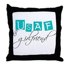 USAF Girlfriend Throw Pillow