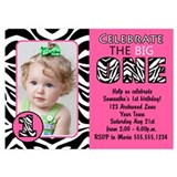 Zebra invitations 5 x 7 Flat Cards