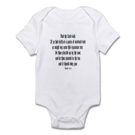 Luke 17:6 Infant Bodysuit