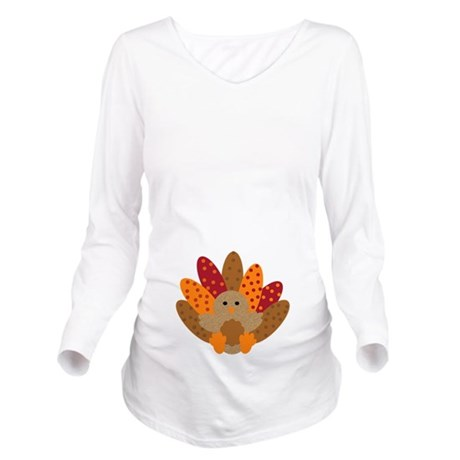 Precious Baby Turkey Long Sleeve Maternity T-Shirt