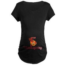 1st Thanksgiving Maternity T-Shirt