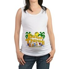 Beach Therapy Maternity Tank Top