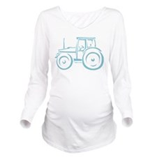 Farm Tractor Long Sleeve Maternity T-Shirt