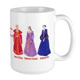 Six Wives of King Henry VIII Large Beverage Mug