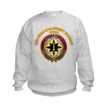 Life Cycle Mgmt Cmd - CECOM with Text Sweatshirt