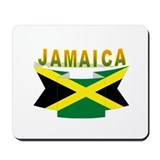 Jamaica flag ribbon Mousepad