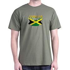 Jamaica flag ribbon T-Shirt