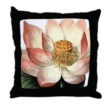 Art Deco Lotus Flower Throw Pillow