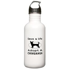 Adopt A Chihuahua Dog Water Bottle
