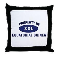 Property of EQUATORIAL GUINEA Throw Pillow