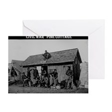 Civil war pine cottage  Greeting Card