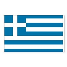 The flag of Greece Rectangle Decal