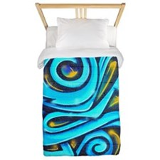 Blue Graffiti Twin Duvet
