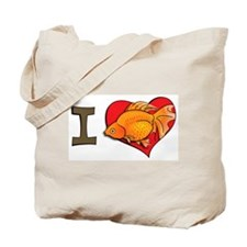 I heart goldfish Tote Bag